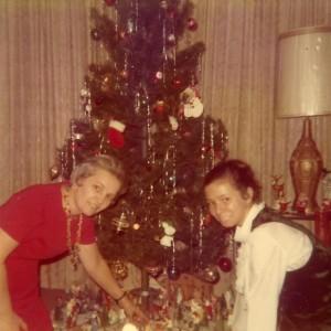 1971 Christmas - Mom and Barbara