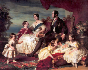 1846 Family of Queen Victoria and Prince Albert portrait by