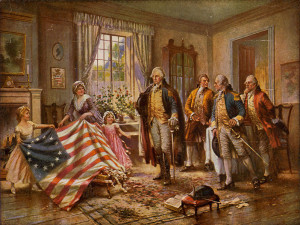Betsy Ross the Birth of Old Glory