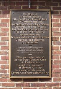 Christ Church - Franklin plaque