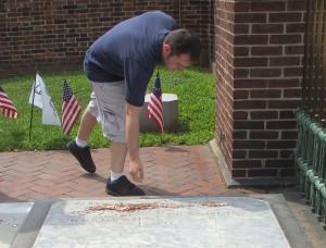 Christ Church - Franklin's grave