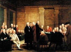 Second Continental Congress voting for independence