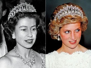 Cambridge Lover's Knot Tiara worn by Queen and Diana