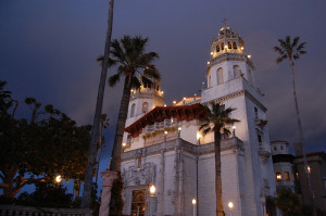 Hearst Castle at night 1