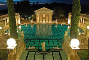 Hearst Castle at night 2