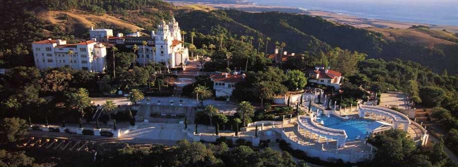 Heast Castle - aerial panorama shot
