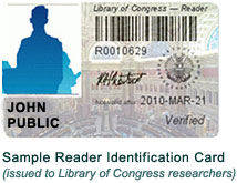 Library of Congress reader ID card