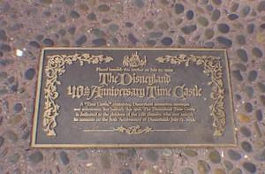 Disneyland 40th Anniversary Time Castle 1