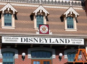 Disneyland Railroad sign
