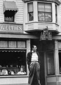 Walt on Main St under father's window