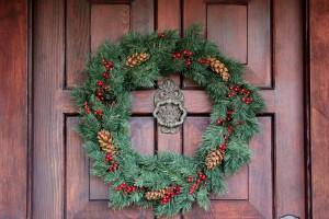 2012 Christmas  Front door wreath