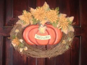2013 Front door autumn wreath