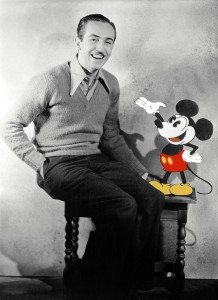Mickey Mouse with Walt Disney
