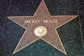 Mickey Mouse's star on the Hollywood Walk of Fame