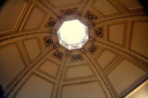 Hampton Court - Queen's Private Oratory dome ceiling