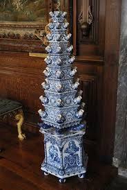 Hampton Court delfware tulip vases