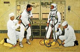 Norman Rockwell - Grissom and Young