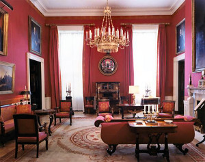 Red Room - after the Kennedy restoration