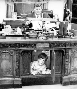 Resolute Desk- President Kennedy and John-John