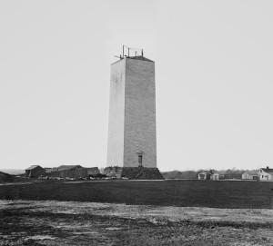 Washington Mounument - construction 1860