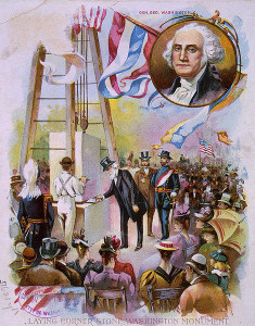 Washington Mounument - laying the cornerstone