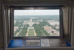 View of the Capitol Building from the top of the Washington Monument