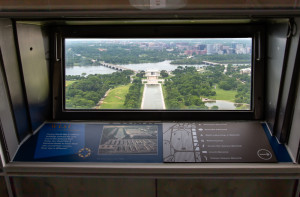 View of the Lincoln Memorial from the top of the Washington Monument
