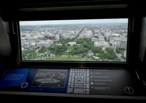 View of the White House from the top of the Washington Mounument
