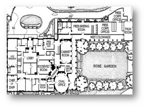 White House - floor plan - West Wing