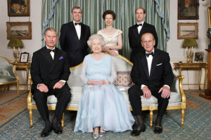 Clarence House - Morning Room - Queen Elizabeth and Prince Phillips 65th wedding anniversary