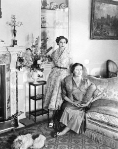 Clarence House - Queen Mother and Princess Margaret 1954