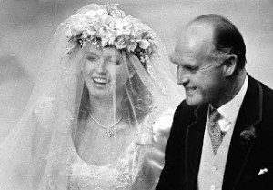 Duchess of York floral headpiece