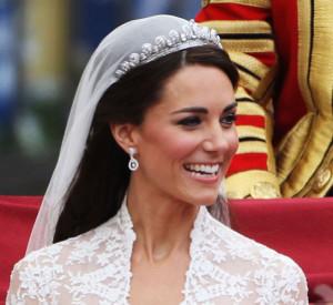 Kate Middleton wedding veil and tiara