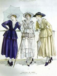 Chanel dress sketch 1917