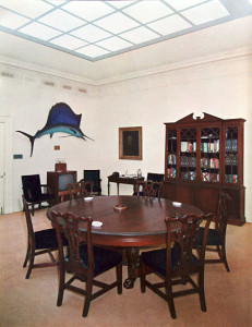 Honeymoon Fish in the Roosevelt Room of the White House