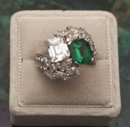 Jackie's engagement ring