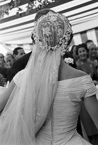Wedding veil - back view