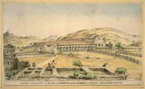 Mission San Antonio de Padua  - old photo