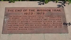 Mission San Francisco de Solano -end of mission trail