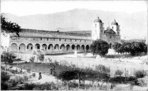 Mission Santa Barbara - old photo