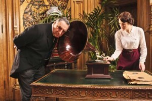 Downton Abbey - after dinner entertainment - gramaphone