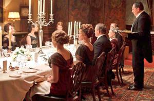 Downton Abbey dinner - butler service 1