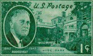 FDR-Hyde Park,  1945, 1Cent Postage Stamp