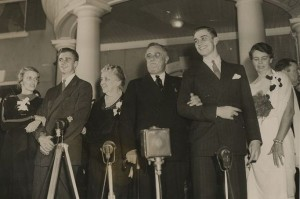 FDR with family on election night 1936