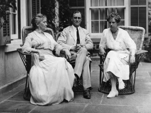 Franklin and Eleanor with Sara Roosevelt - 1920