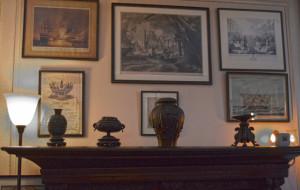 Springwood  - Entrance Hall naval paintings