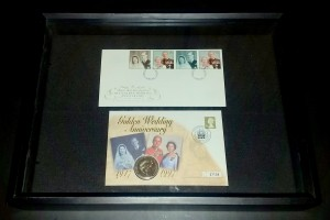 Golden Wedding stamp and coin set