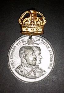 King Edward II - coronation medal front