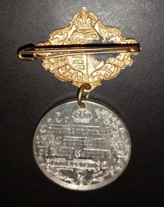 King George V - coronation medal back