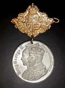 King George V - coronation medal front